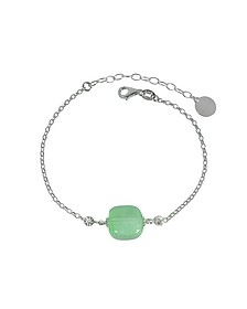 Florinda Armband aus Sterlingsilber mit Muranoglas in grün - Antica Murrina Veneziana