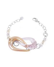 Connection - Interlocking Murano Glass and Sterling Silver Bracelet - Antica Murrina