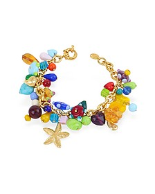 Marilena - Vergoldetes Armband mit Muranoglasanhängern - Antica Murrina Veneziana