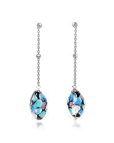 Smeralda Glass Beads Sterling Silver Earrings - Antica Murrina