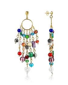 Brio - Murano Glass Bead Chandelier Earrings - Antica Murrina
