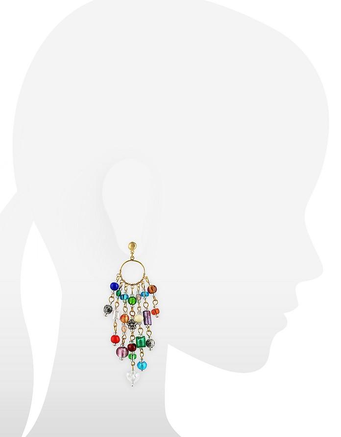 Antica Murrina Brio - Murano Glass Bead Chandelier Earrings at ...