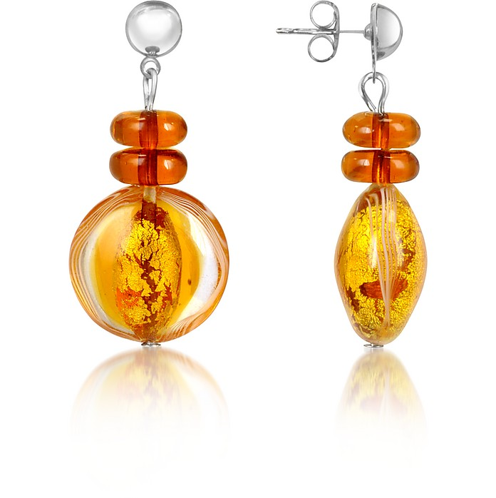Anika - Murano Glass Drop Earrings - Antica Murrina
