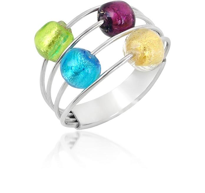 Lybra - Sterling Silver and Murano Glass Ring - Antica Murrina