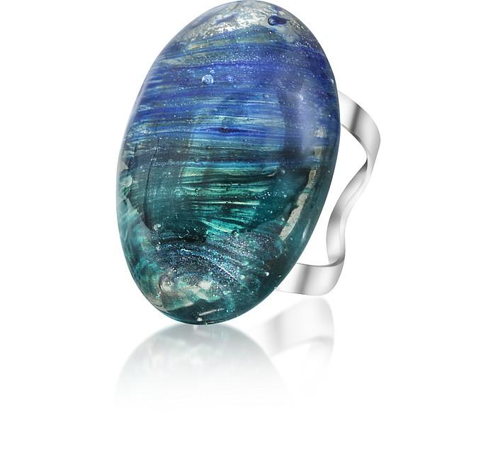 Drop - Oval Murano Glass Ring - Antica Murrina
