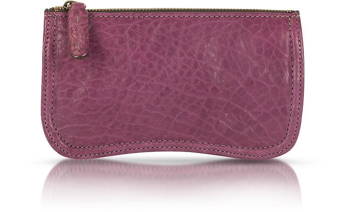Nina Genuine Leather Clutch - Abaco