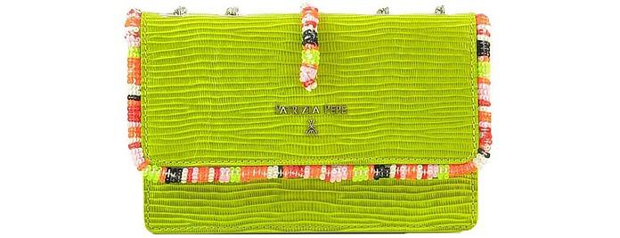 Apple Green Leather Shoulder Bag - Patrizia Pepe