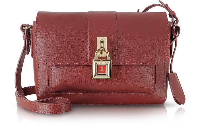 Saffiano Leather Shoulder Bag - Patrizia Pepe
