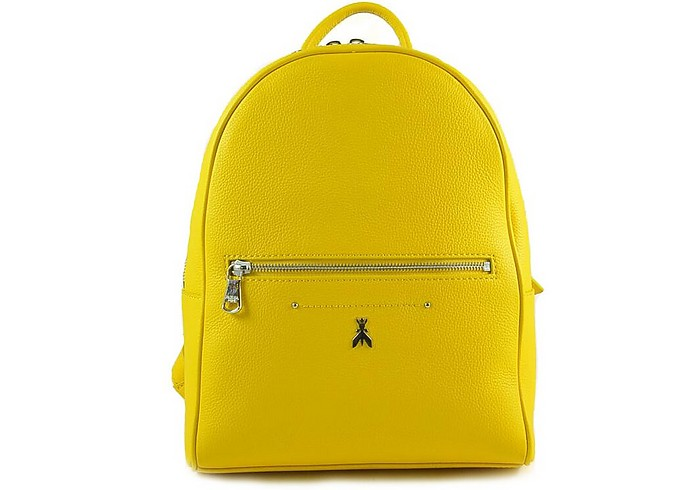 Bright Yellow Leather Backpack - Patrizia Pepe