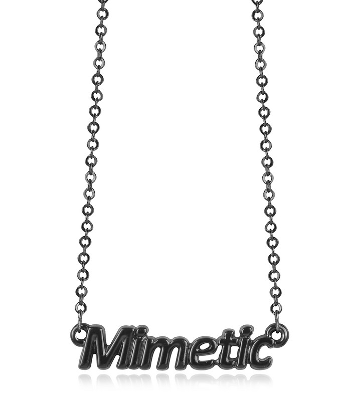 Black 'Mimetic' Necklace - Patrizia Pepe