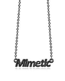 """Mimetic"" Halskette in schwarz - Patrizia Pepe"