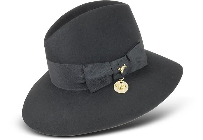 Patrizia Pepe Black Wool Fedora Hat S  4b68971f06c