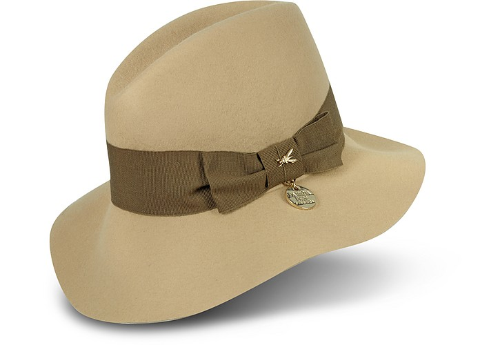 ca0c43f63ac Patrizia Pepe Dark Cosmic Latte Women's Wool Hat S (21 in | 53 cm ...