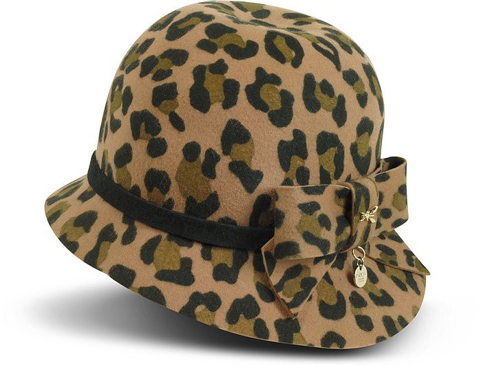 Animal Print Wool Felt Hat - Patrizia Pepe