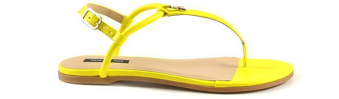 Bright Yellow Flat Sandals - Patrizia Pepe 柏翠莎 佩佩