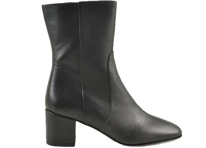 Black Leather Ankle Boots - Patrizia Pepe