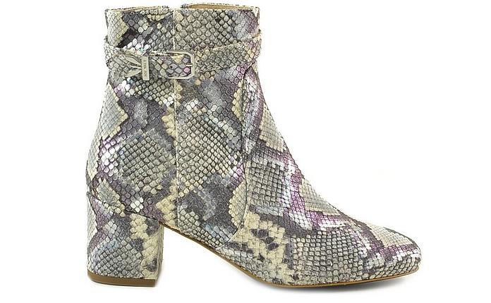 Snake Print Leather Mid-Heel Booties - Patrizia Pepe 柏翠莎 佩佩