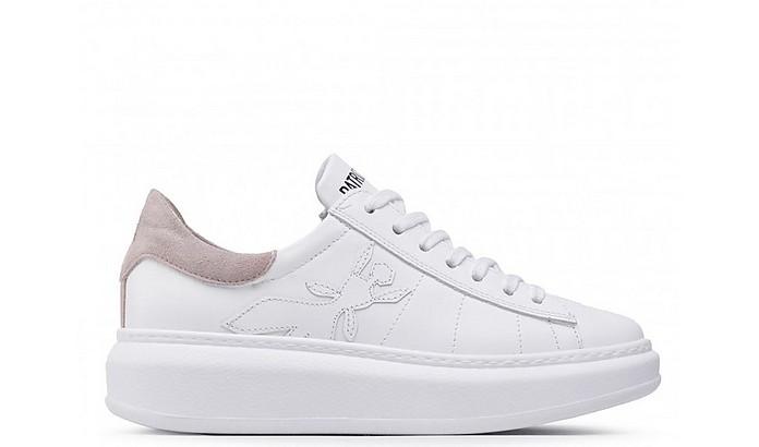 White/Beige Women's Tennis Sneakers - Patrizia Pepe / パトリツィア ペペ