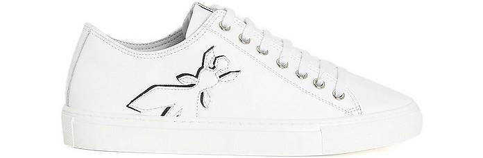 White W146 Women's Lace up Sneakers - Patrizia Pepe / パトリツィア ペペ