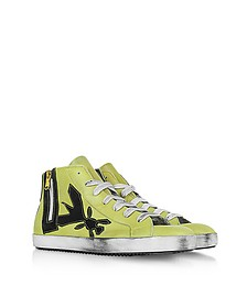 High Top Yellow Leather Sneaker - Patrizia Pepe