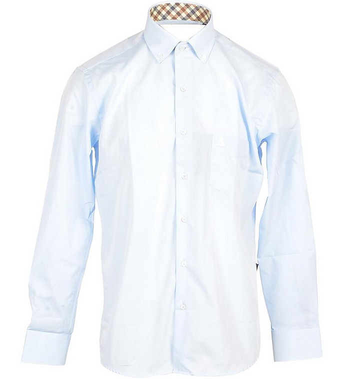 Aquascutum Men's Sky Blue Shirt
