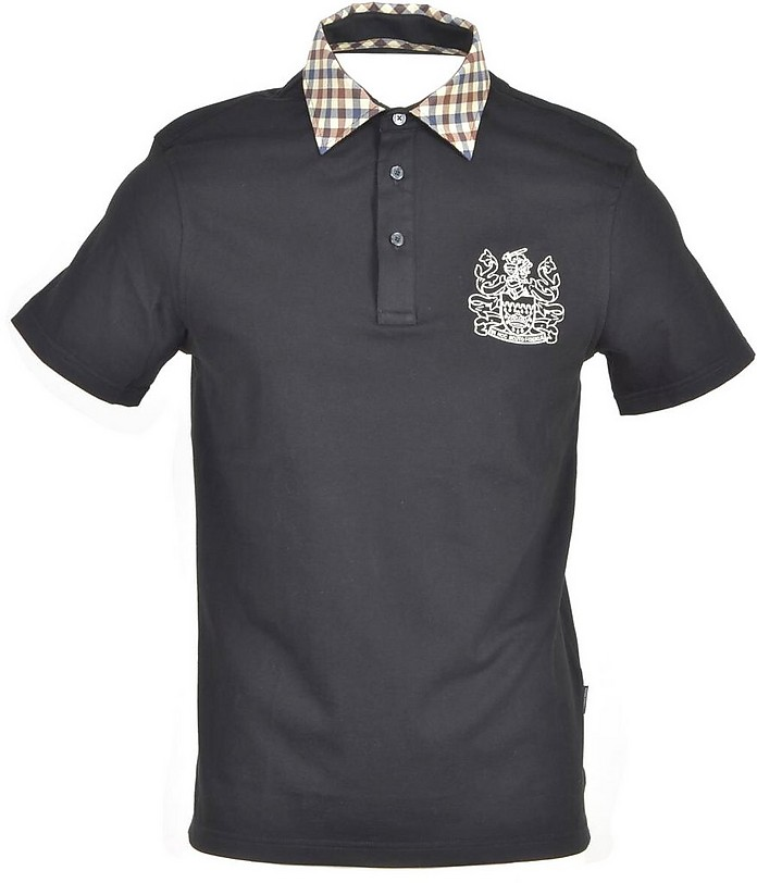 Aquascutum Shirts Men's Black Shirt