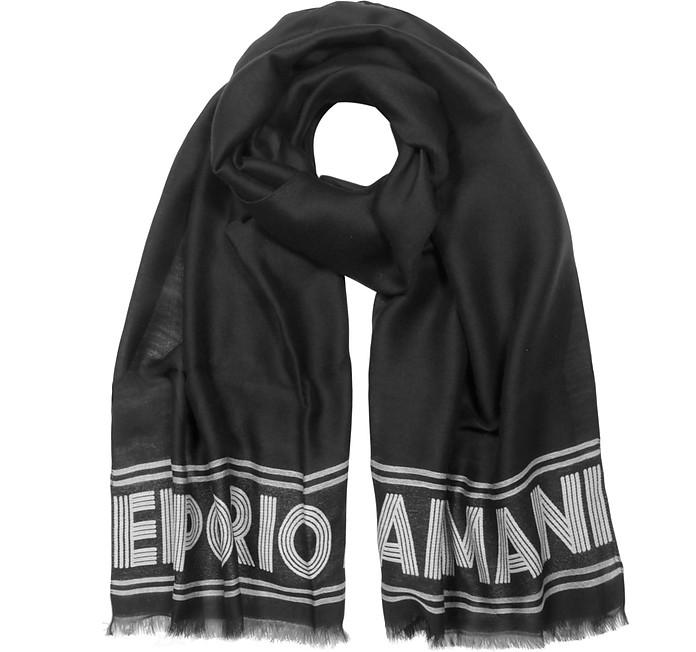 Two Tone Women's Woven Stole - Emporio Armani