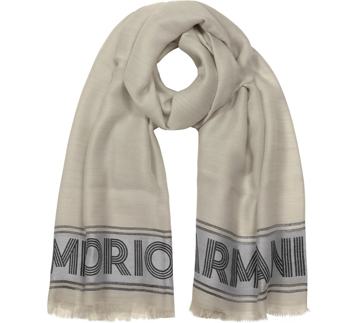Two Tone Women's Woven Stole - Emporio Armani / エンポリオ アルマーニ