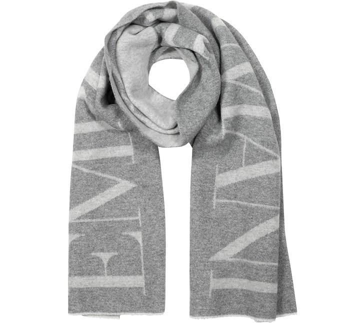 Цементно-серый Фирменный Мужской Шарф - Emporio Armani