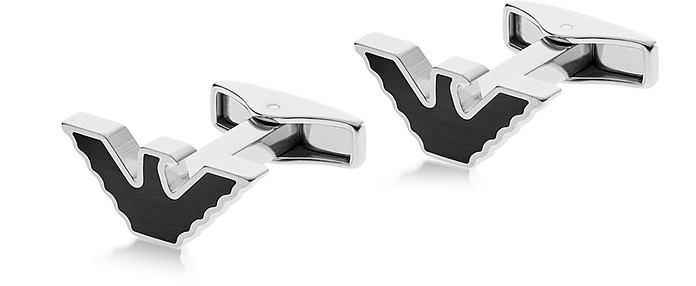 Signature Eagle Men's Cufflink - Emporio Armani