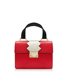 Small Red Smooth Leather top-Handle Bag - Emporio Armani
