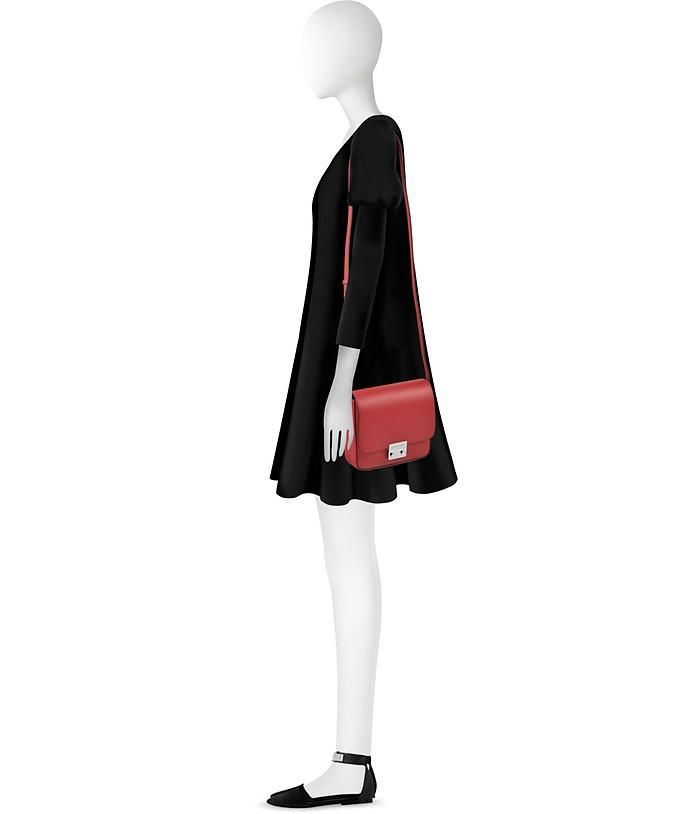 Mini Smooth Leather Shoulder Bag Emporio Armani Rosso CmCz1eRf