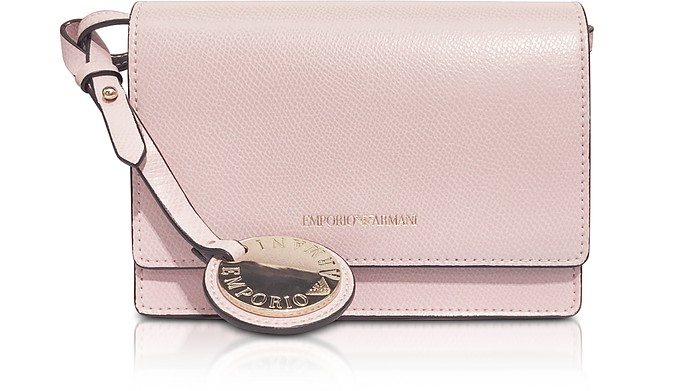 97a120587ba8 Emporio Armani Pink Lizard Embossed Leather Mini Shoulder Bag at ...
