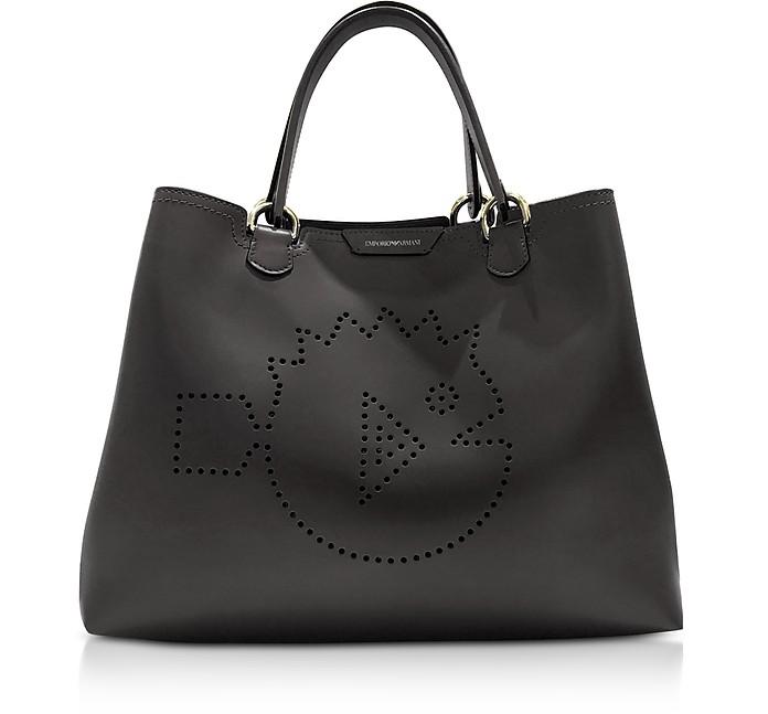 Cyber Waterworld Leather Tote Bag - Emporio Armani