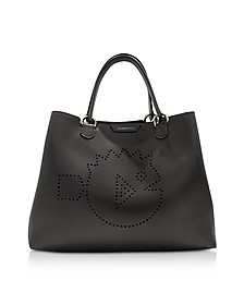 Cyber Waterworld Leather Tote Bag - Emporio Armani