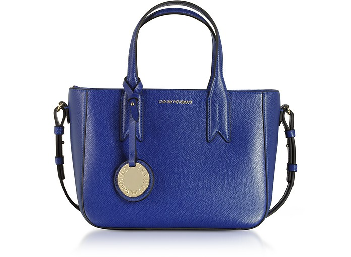 e8a113db514d Twitter · Pinterest · Share on Tumblr. Electric Blue Embossed Eco Leather  Mini Tote Bag - Emporio Armani