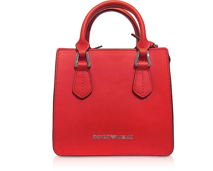 Red Mini Tote Bag - Emporio Armani