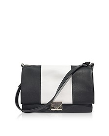 Color Block Leather Shoulder bag - Emporio Armani