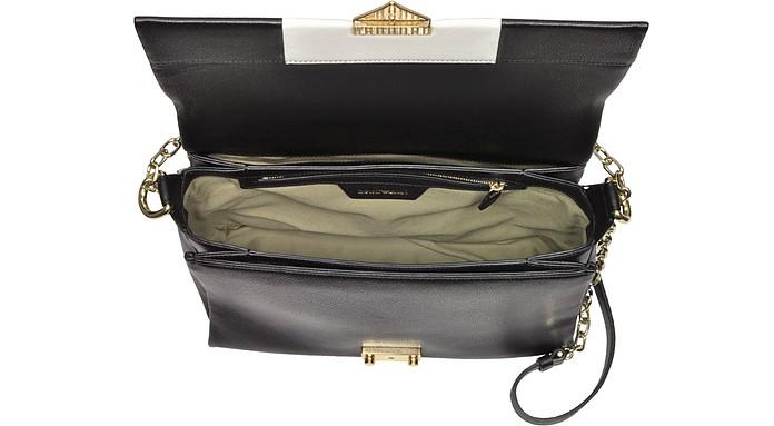 Color Block Leather Shoulder bag Emporio Armani GUFzFny