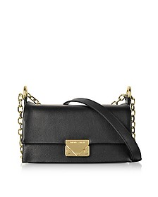 Grainy Leather Small Shoulder Bag  - Emporio Armani