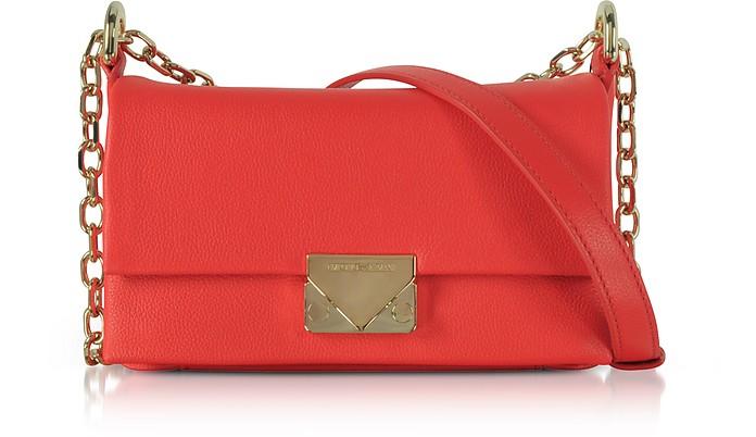 Grainy Leather Small Shoulder Bag  - Emporio Armani