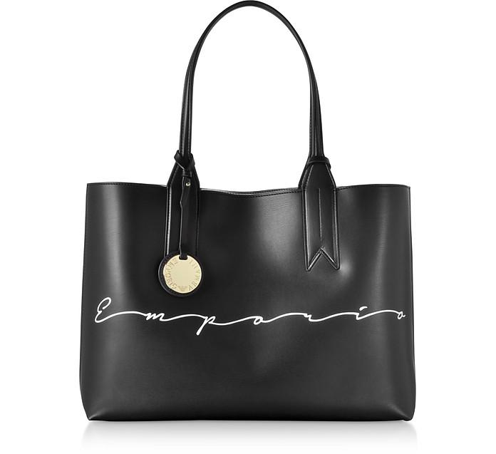 Signature Print Tote Bag - Emporio Armani