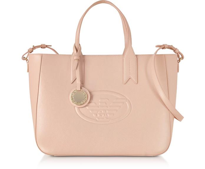 Medium Embossed Eco Leather Tote Bag - Emporio Armani