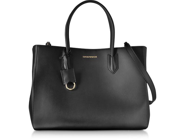 Medium Tote Bag w/Shoulder Strap - Emporio Armani
