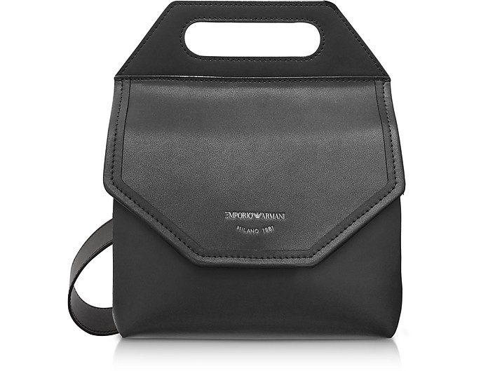 Large Leather Crossbody Bag - Emporio Armani