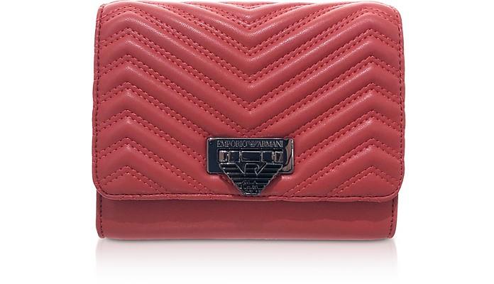 Quilted Eco-Leather Medium Shoulder Bag - Emporio Armani