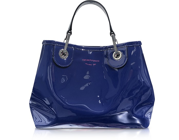 Eco-Patent Leather Small Tote Bag - Emporio Armani