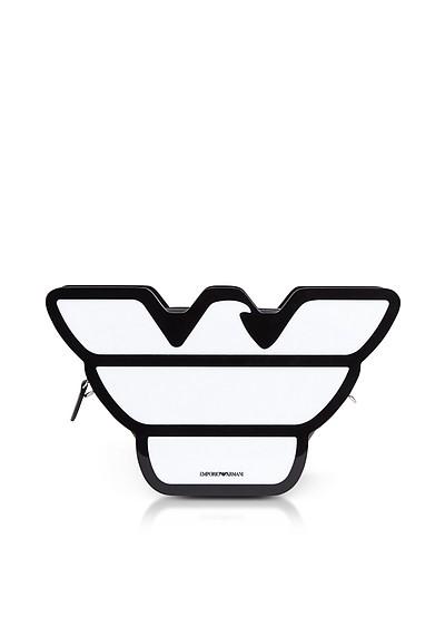 Black & White Eagle Plexiglas Clutch - Emporio Armani