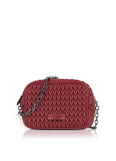 Quilted Eco-Leather Shoulder Bag - Emporio Armani