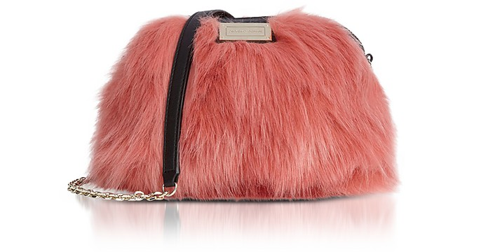 Eco-Fur Small Shoulder Bag - Emporio Armani